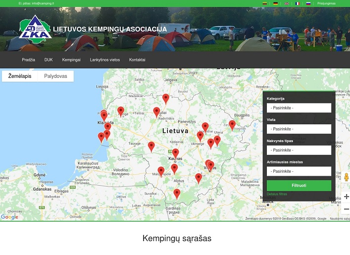 Lithuania campings